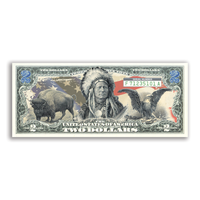 """Americana"" Crisp Uncirculated $2 Bill"