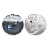 Silver & Titanium Estacado Meteorite $2 Coin