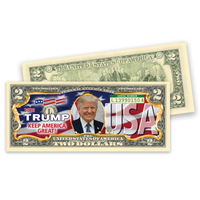 Trump 2020 Colorized $2 Bill