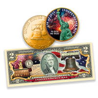 4th of July Coin & Currency Set in Full Color