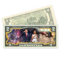 Mount Rushmore Colorized $2 Bill