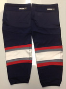 REEBOK EDGE CUSTOM HOCKEY SOCKS HARTFORD WOLF PACK NAVY BLUE PRO STOCK AHL XL USED