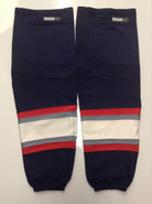 REEBOK EDGE CUSTOM HOCKEY SOCKS HARTFORD WOLF PACK NAVY BLUE PRO STOCK AHL XL+ USED