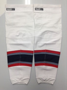 REEBOK EDGE CUSTOM HOCKEY SOCKS HARTFORD WOLF PACK WHITE PRO STOCK AHL XL+ USED