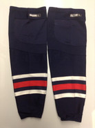 REEBOK EDGE CUSTOM HOCKEY SOCKS COLUMBUS BLUE JACKETS NAVY BLUE PRO STOCK NHL XL USED
