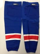 REEBOK EDGE CUSTOM HOCKEY SOCKS NEW YORK RANGERS ROYAL BLUE PRO STOCK NHL XL+ USED