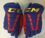"CCM HG96 XP Pro Stock Custom Hockey Gloves 15"" Norfolk Admirals NEW"
