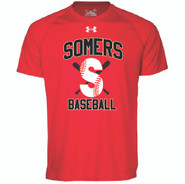 Somers LL Under Armour Locker Tee Adult Red