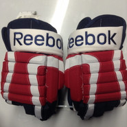 "Reebok STY 2 Pro Stock Custom Hockey Gloves 15"" Rochester Americans NEW"