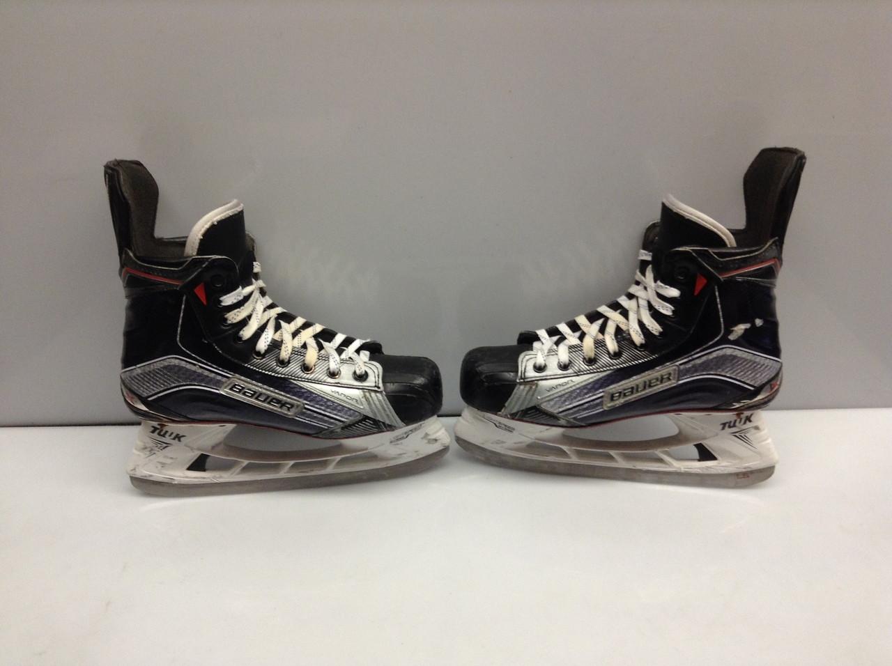 Used Hockey Skates >> Bauer Vapor 1x Custom Pro Stock Ice Hockey Skates 7 75 E Used Hartford Wolfpack Custom Ahl
