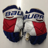 "Bauer Vapor 1X Pro Stock Custom Hockey Gloves 14"" NY Rangers used STAAL NHL (2)"