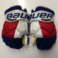 "Bauer Vapor 1X Pro Stock Custom Hockey Gloves 14"" NY Rangers used STAAL NHL (4)"