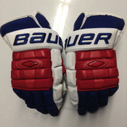 "Bauer Nexus 1000 Pro Stock Custom Hockey Gloves 15"" NY Rangers Stepan used (5)"