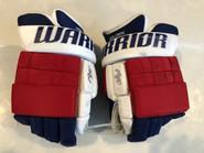 "Warrior AX1 Pro Stock Custom Hockey Gloves 14"" New York Rangers HOLDEN used"