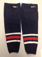 CCM REEBOK EDGE CUSTOM HOCKEY SOCKS COLUMBUS BLUE JACKETS NAVY BLUE PRO STOCK NHL LARGE USED