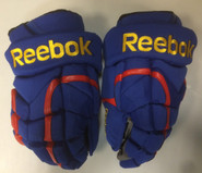 "Reebok 11KP Pro Stock Custom Hockey Gloves 13"" Norfolk Admirals NEW"