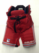 "Bauer One95 Custom Pro Stock Hockey Pants LARGE +1"" New York Rangers NHL Used"