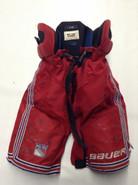 Bauer One95 Custom Pro Stock Hockey Pants LARGE New York Rangers NHL Used