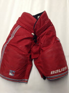 "Bauer Custom Pro Stock Hockey Pants X-LARGE +1"" New York Rangers NHL Used NASH"