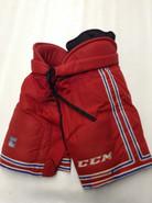 CCM HP45 Custom Pro Stock Hockey Pants Large New York Rangers NHL Used #17
