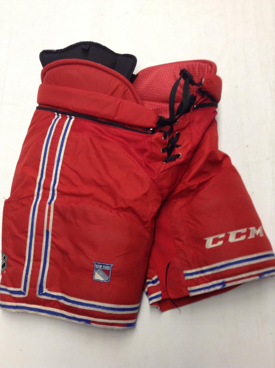 CCM HP45 Custom Pro Stock Hockey Pants Large New York Rangers NHL Used (2)