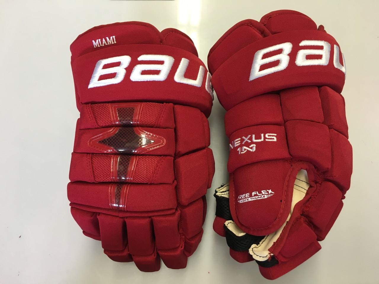a5351a7f55d Miami Bauer Nexus 1N Pro Stock Custom Hockey Gloves 15