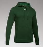 Green Wave Hockey Under Armour Hustle Hoodie Adult SCREEN PRINT LOGO