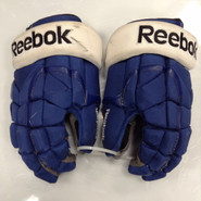 "Reebok 11KP Pro Stock Custom Hockey Gloves 14"" Syracuse Crunch AHL used"
