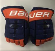 """Bauer Nexus 1N Pro Stock Custom Hockey Gloves 14"""" Islanders New"""