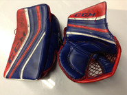 CCM Premier Goalie Glove and Blocker NELL Hartford Wolf pack Pro stock AHL