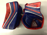 CCM Premier Goalie Glove and Blocker NELL Hartford Wolf pack Pro stock AHL (2)
