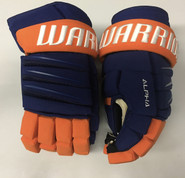 "Warrior Alpha QX Pro Custom Pro Stock Hockey Gloves NY Islanders 14"" NHL"