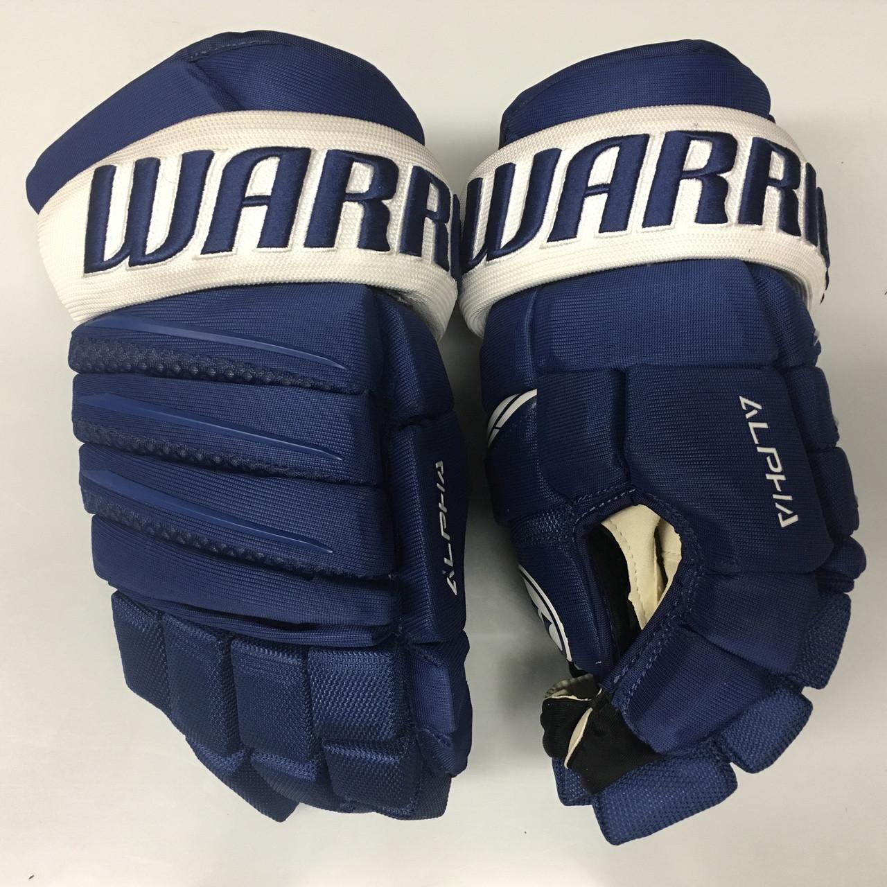 finest selection b25de 687eb Warrior Alpha QX Pro Custom Pro Stock Hockey Gloves Toronto Maple Leafs 15