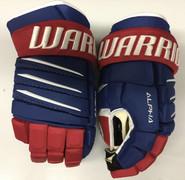 "Warrior Alpha QX Pro Custom Pro Stock Hockey Gloves Montreal Canadiens 14"" NHL"