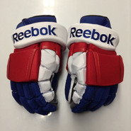 "Reebok 11KP Pro Stock Custom Hockey Gloves 15"" New York Rangers NEW"