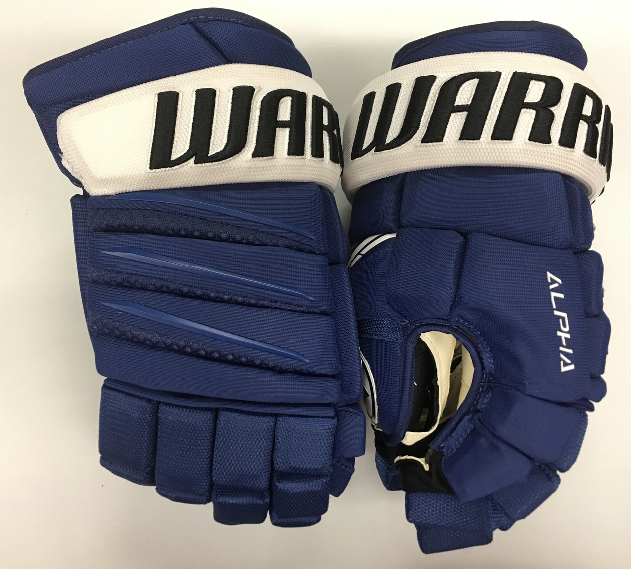 552eda518645 Warrior Alpha QX Pro Custom Pro Stock Hockey Gloves Tampa Bay ...