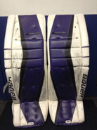 "Bauer Reactor 9000 Goalie Leg Pads 36+1"" NIXON Custom NCAA Pro Stock"