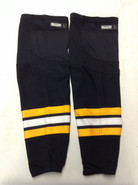 REEBOK EDGE CUSTOM HOCKEY SOCKS BLACK PRO STOCK NHL LARGE BOSTON BRUINS NEW