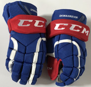 "CCM HG12 Pro Stock Custom Hockey Gloves 13"" UML NCAA NEW"