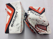 BAUER Supreme NXG Goalie Catcher and Blocker Pro Stock NCAA Custom used
