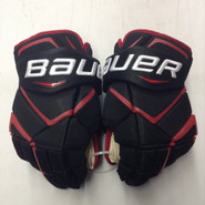 "Bauer Vapor 1X Pro Stock Custom Hockey Gloves 14"" NE Huskies New"