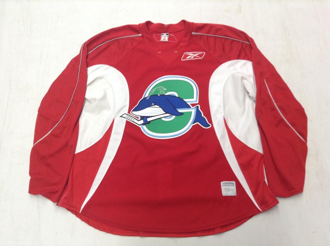 Reebok Edge 2.0 Custom Pro Stock Hockey Practice Jersey CT Whale Red ... 53d01aa0e37