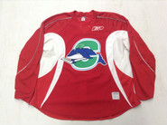 Reebok Edge 2.0 Custom Pro Stock Hockey Practice Jersey CT Whale Red 58+