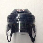 BAUER REAKT 100 PRO STOCK HOCKEY HELMET NAVY BLUE MEDIUM HARTFORD WOLF PACK #24