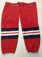 CCM EDGE CUSTOM HOCKEY SOCKS HARTFORD WOLFPACK RED PRO STOCK AHL LARGE USED 17' STYLE