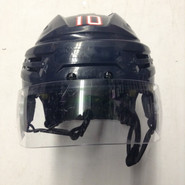 BAUER RE AKT PRO STOCK HOCKEY HELMET NAVY BLUE MEDIUM HARTFORD WOLF PACK AHL #10