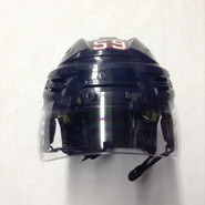 BAUER REAKT VN PRO STOCK HOCKEY HELMET NAVY BLUE MEDIUM WOLFPACK #59