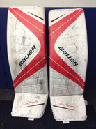 "BAUER VAPOR 1X Pro Goalie Leg Pads 36+1"" X-Large XL Pro Stock NCAA PERRY Used"