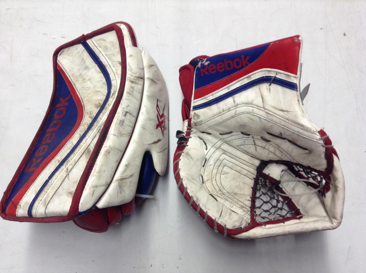 servidor Formación Casarse  Reebok XLT Goalie Glove and Blocker Pro stock NCAA - DK's Hockey Shop