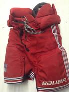 Bauer Custom Vapor Pro Stock Hockey Pants Medium New York Rangers NHL Used CLENDENING (2)